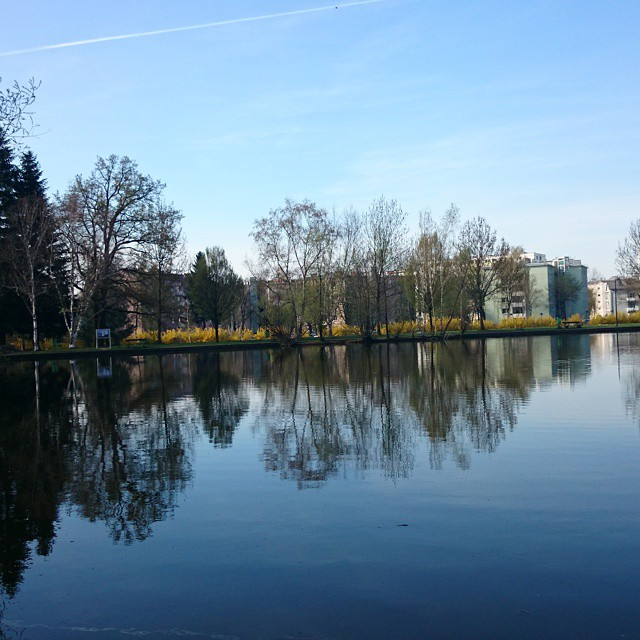 The pond in the campus.!!